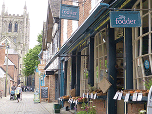 The exterior of Fodder in Hereford